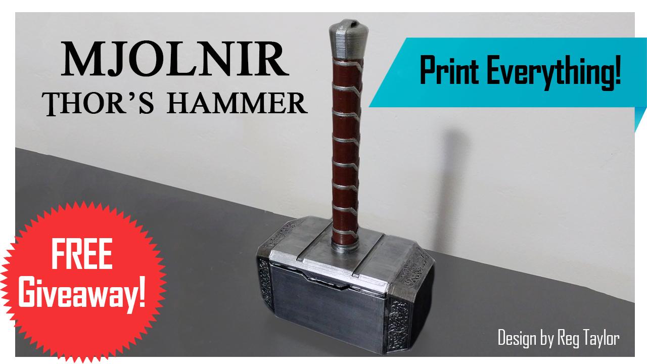 3D Printed Mjolnir