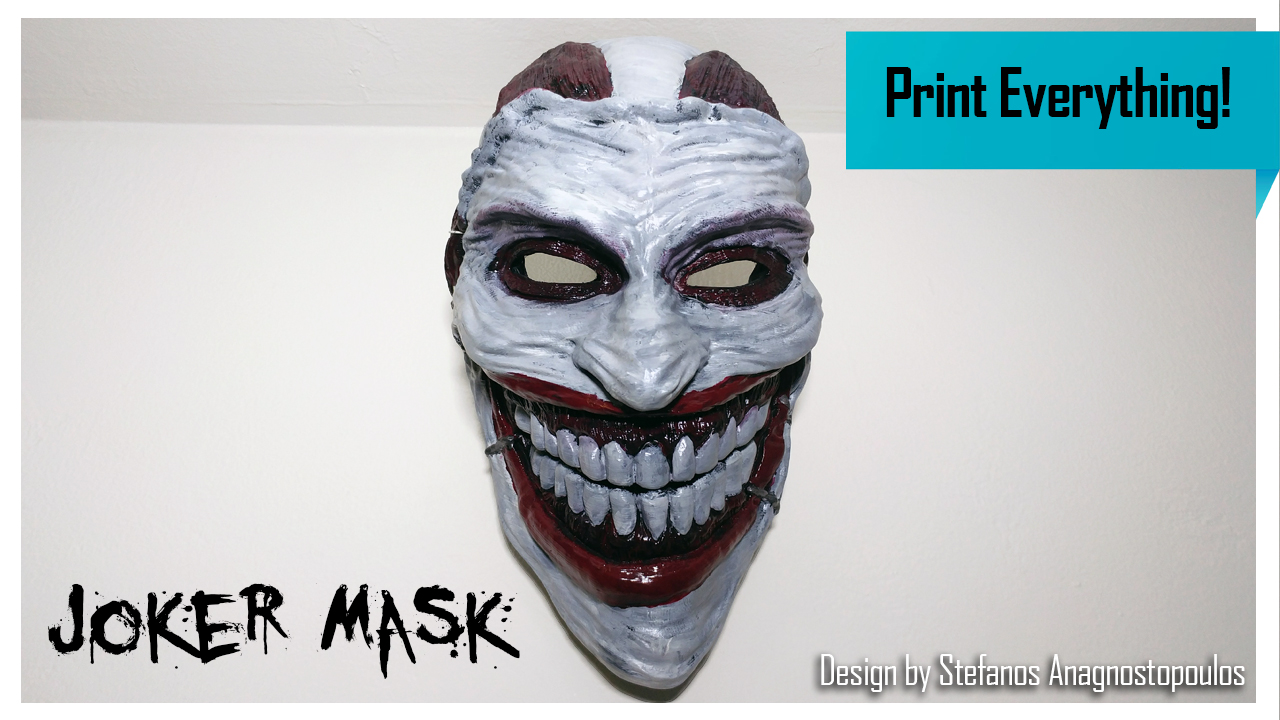 3D Printed Joker Mask
