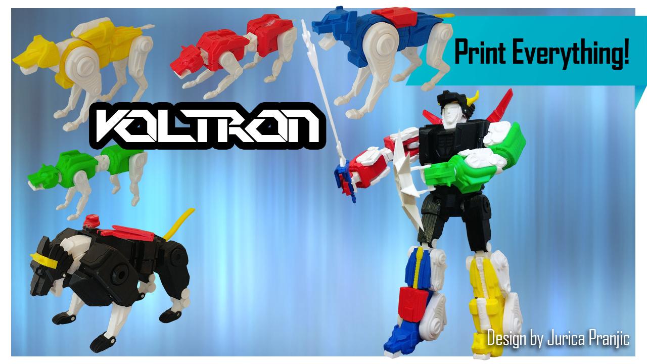 3D Printed Voltron