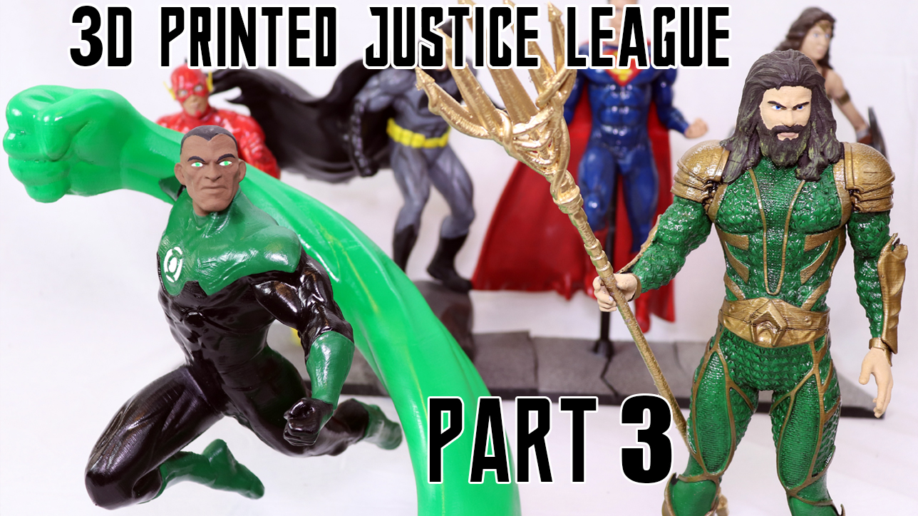 3d printed justice league