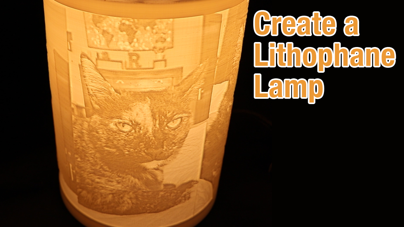 3D Printed Lithophane Lamp