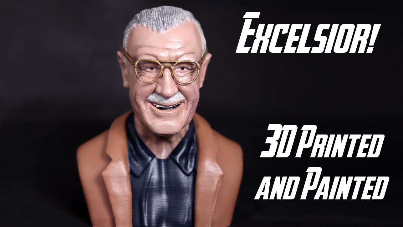 3D Printed Stan Lee
