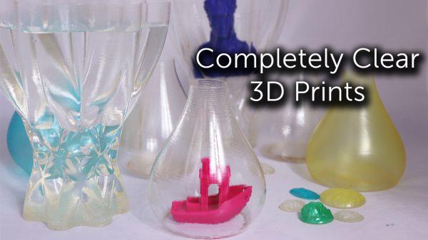 Transparent 3D Prints
