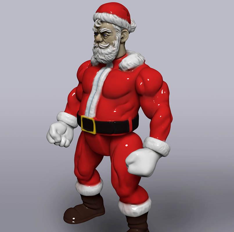 Badass Santa 3D